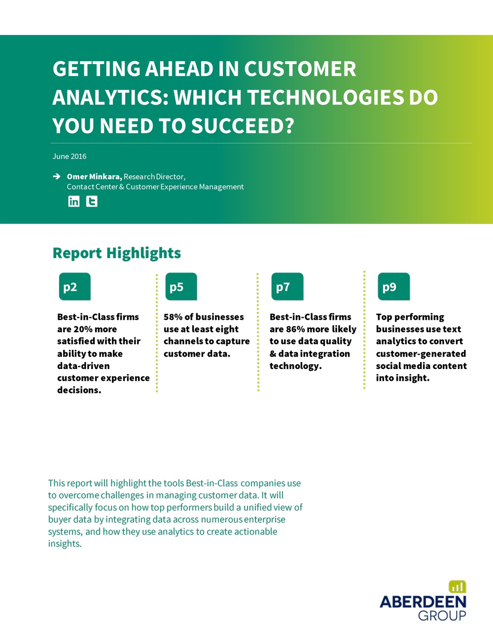 Getting Ahead in Customer Analytics: Which Technologies Do You Need to Succeed?