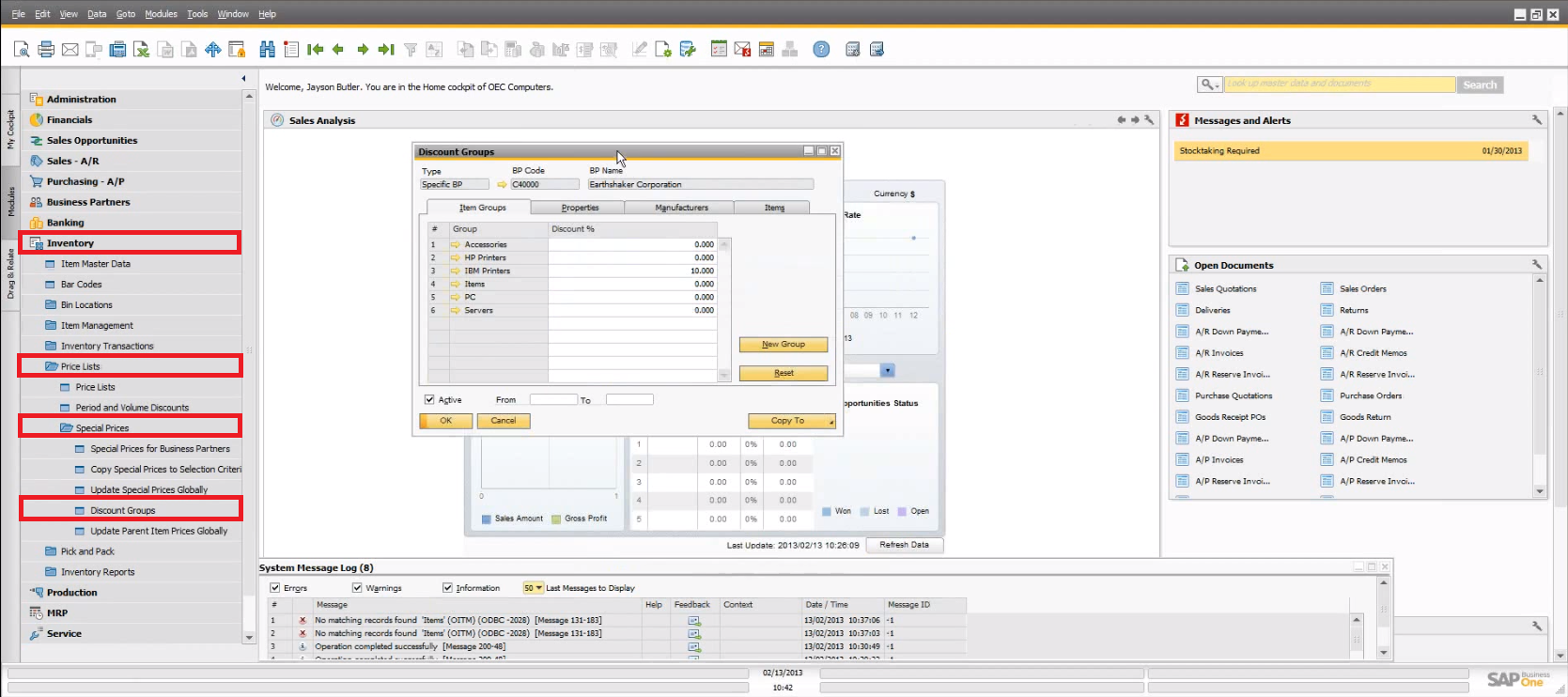 SAP Business One 9.0: Multiple Units of Measuret & Pricing