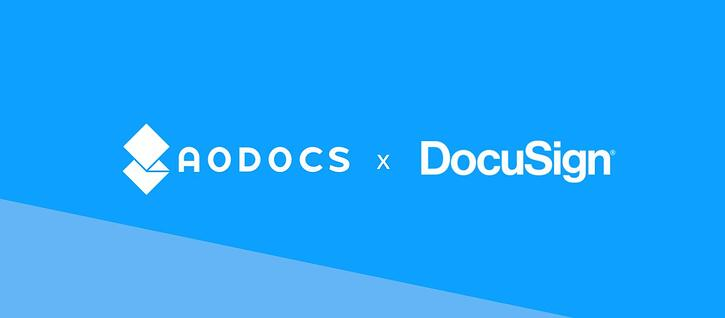 Simplify your e signature process with AODocs & DocuSign