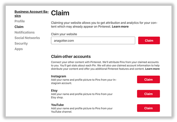 """Michael Kors claims his website through Pinterest. This is actually pretty simple; head to your Pinterest's """"Settings"""" and then find """"Claim Website."""""""