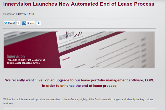 Innervision_Launch_New_End_of_Lease_Process