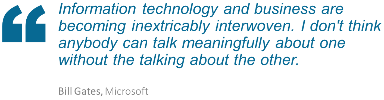 Informationtechnologyandbusinessarebecominginextricablyinterwoven
