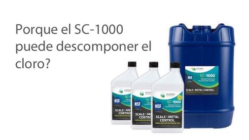 ¿Por qué SC-1000 reduce el cloro libre?