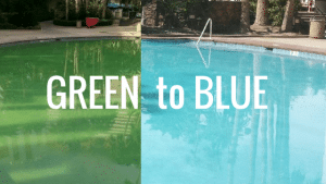 From green to blue water within three hours