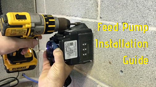 How to install a feed pump on a swimming pool