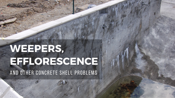 Weepers, Efflorescence, and other Concrete Pool Shell Problems