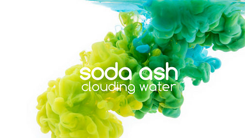 Why does Soda Ash cloud up pool water?