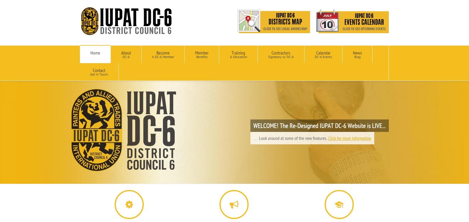 IUPAT DC 6 Website Construction Union LaborTools