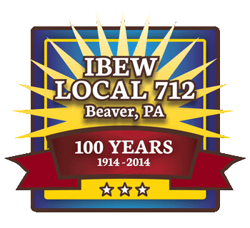IBEW 712 100th Anniversary logo