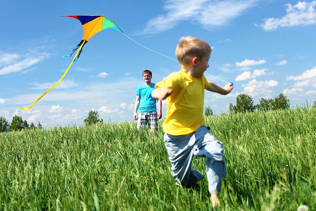 kid with kite