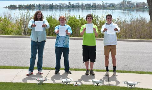 Harbor Students Earn Drone Operators' Safety Certificates, FAA Licenses