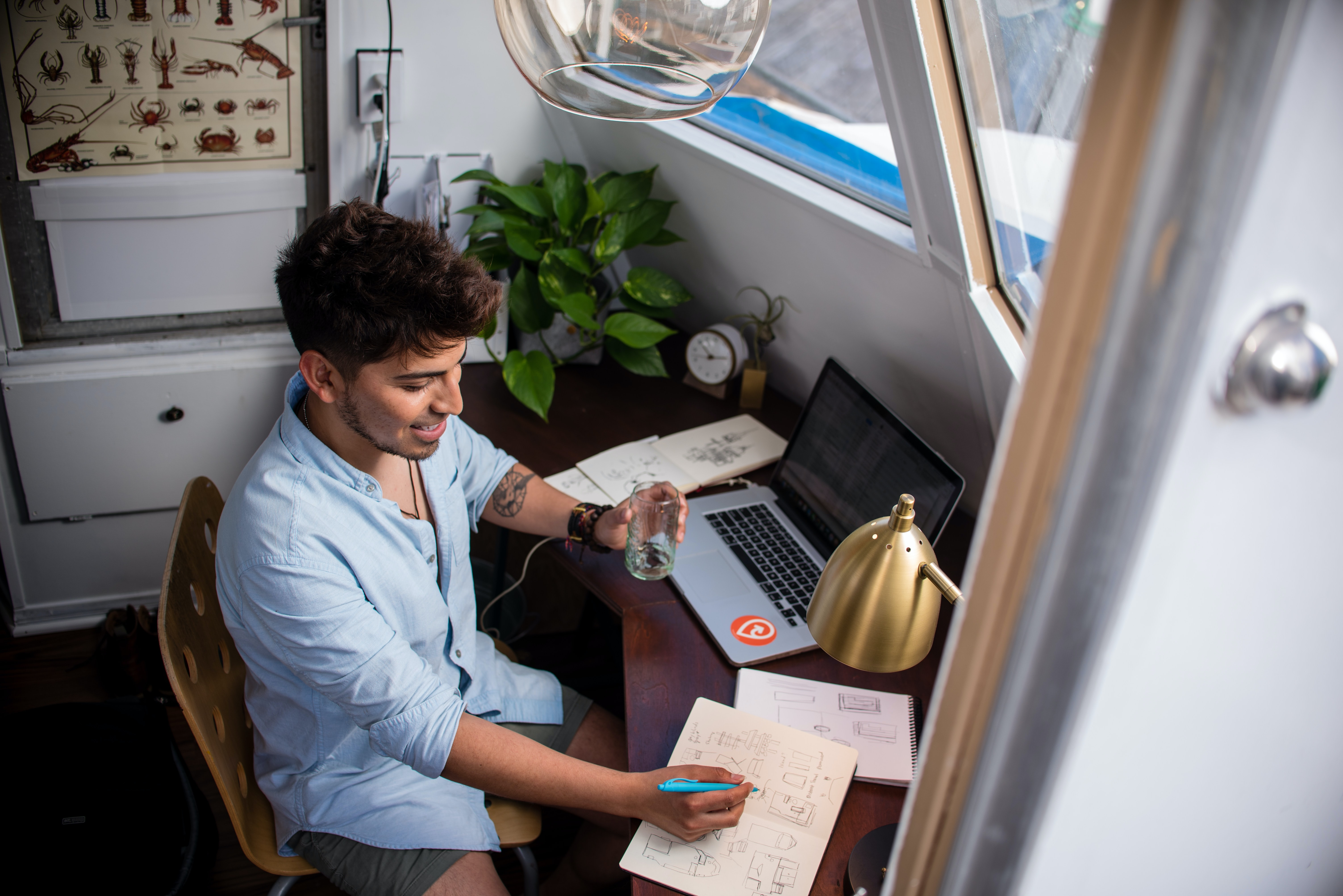 Young professional working remotely