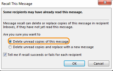 Recall a Sent Message