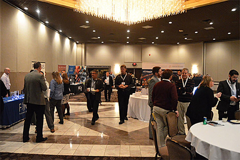 AIAG networking exhibit hall - blog
