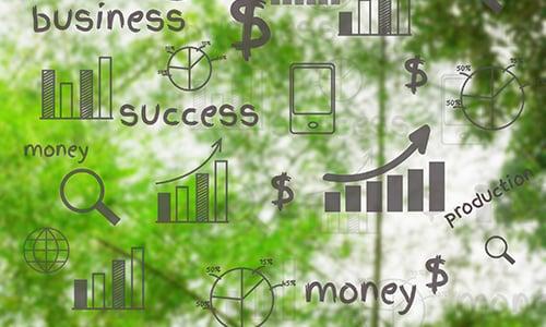 benchmarking info on green background - blog