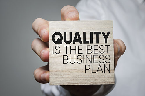 quality is the best business plan - blog
