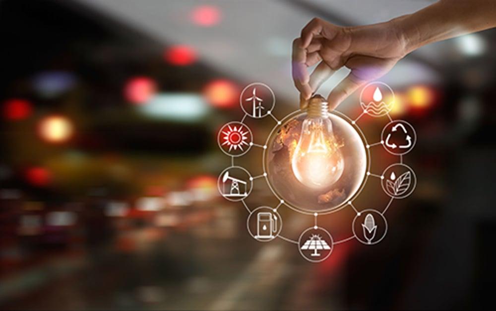 renewable energy light bulb - blog