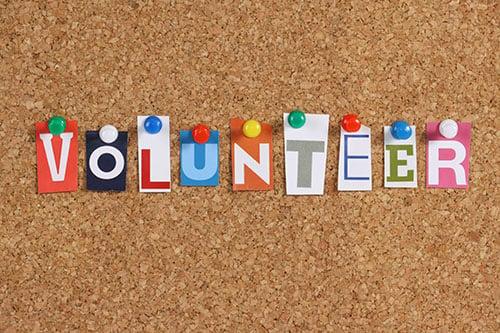 volunteer cork board - blog