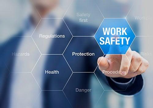 work safety concept - blog