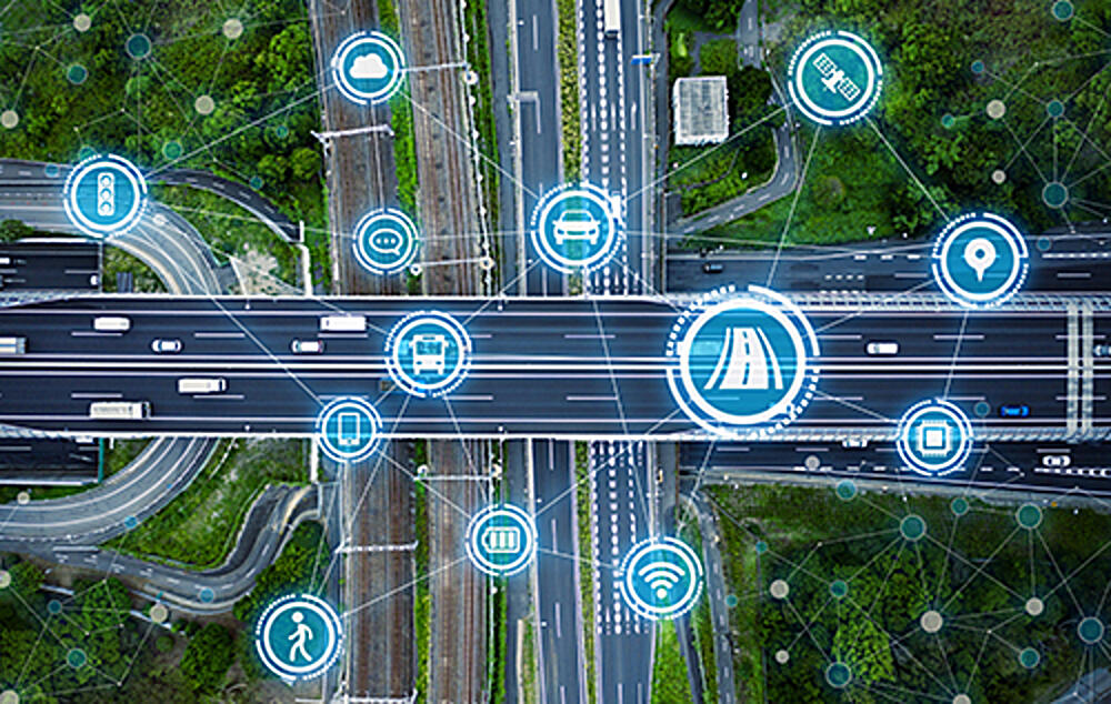 connected vehicle road icons - blog