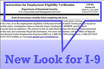 Hr compliance alert new i 9 form required starting may 7 for New job documents required