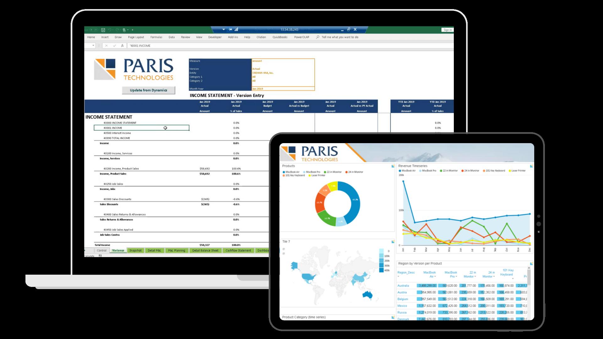 PARIS laptop tablet