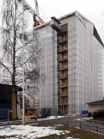 Rakennusliike Kuoma huolehtii hyvästä pölynhallinnasta Niiralan Kulman työmaalla