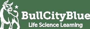 Bull City Blue Logo Horz Wht