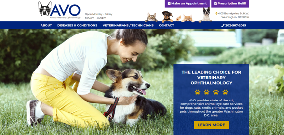 EZMarketing Develops Website for Armour Veterinary Ophthalmology