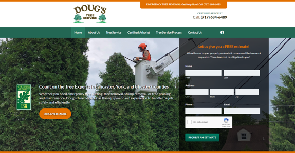 EZMarketing Constructs New Website for Doug's Tree Service