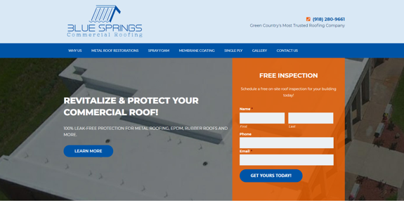 EZMarketing Develops New Website for Blue Springs Commercial Roofing