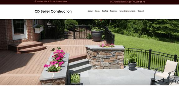 EZMarketing Develops New Website for CD Beiler Construction