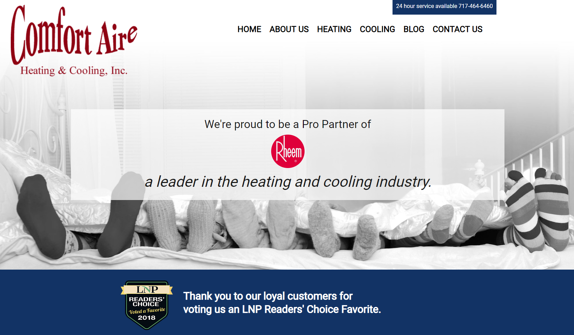 EZMarketing Announces New Website Launch for Comfort Aire Heating & Cooling, Inc.