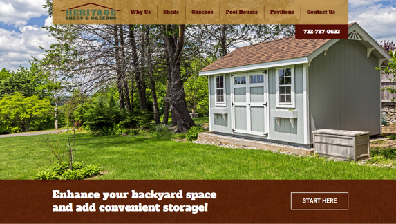 EZMarketing Designs & Develops Website for Heritage Sheds & Gazebos