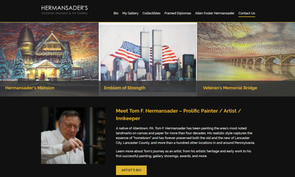 EZMarketing Designs & Develops New Website for Hermansader's Art Gallery