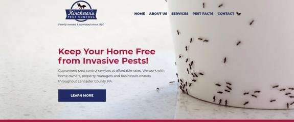 EZMarketing Develops New Website for Kirchner's Pest Control