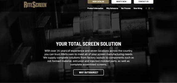EZMarketing Develops New Website for RiteScreen Company