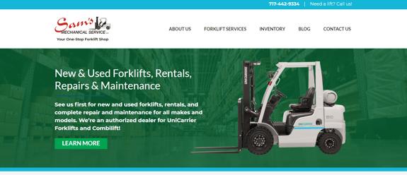 EZMarketing Develops New Website for Sam's Mechanical Service