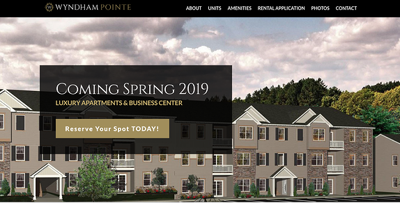 EZMarketing Develops New Website for Wyndham Pointe Apartments