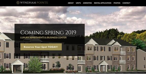 EZMarketing Develops New Website for Wyndham Pointe Apartments
