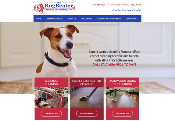 EZMarketing Develops New Website for The Rug Beater, Inc.
