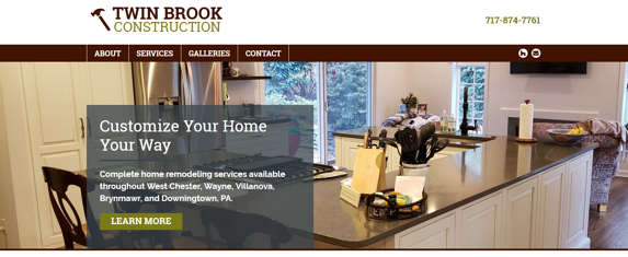 EZMarketing Develops Website for Twin Brook Construction
