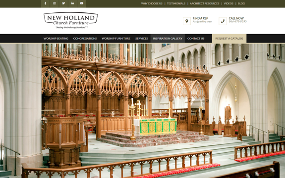 EZMarketing Constructs New Website Design for New Holland Church Furniture