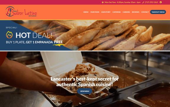 EZMarketing Develops New Website Design for Gran Sabor Latino