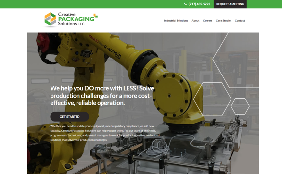 EZM Develops New Website Design for Creative Packaging Solutions