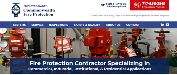 EZMarketing Builds New Website for Commonwealth Fire Protection Company
