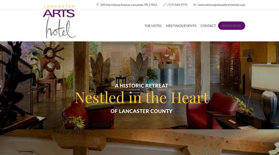 EZMarketing Builds New Website for Lancaster Arts Hotel