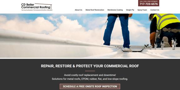 EZMarketing Designs & Develops New Website for CD Beiler Commercial Roofing