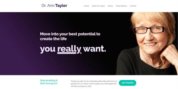 EZMarketing Designs & Develops New Website for Dr. Ann Taylor