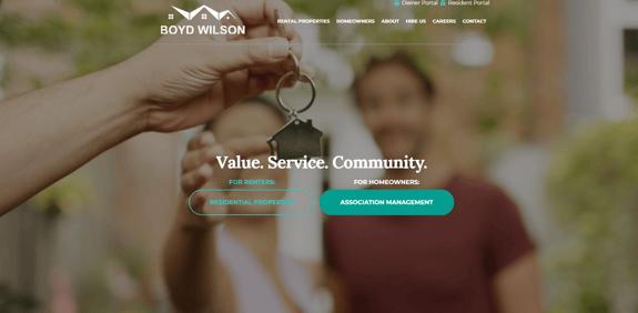EZMarketing Designs New Website for Boyd Wilson